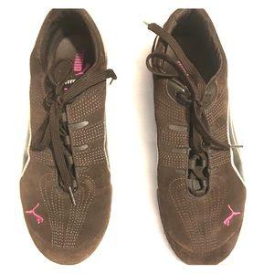 Puma 🐆 brown suede Sneakers 👟